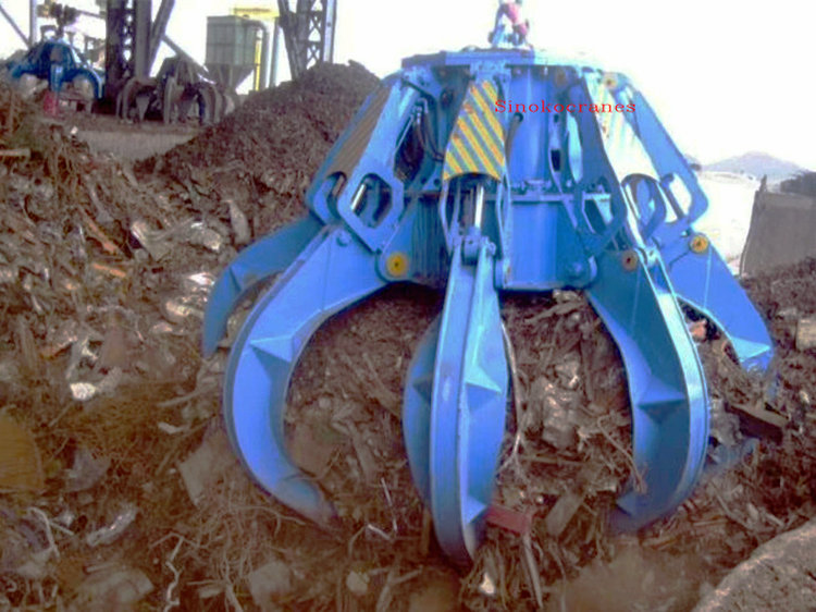 35t Steel Scraps Grab Bucket Cranes