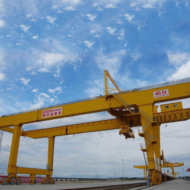 50t Rail Mounted Double Girder Container Gantry Crane