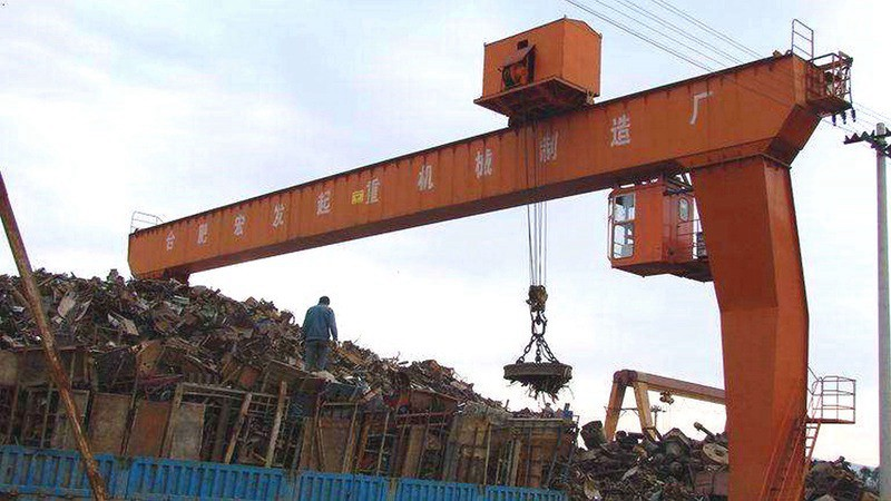 Steel Scrap Lifting Magnet Gantry Crane