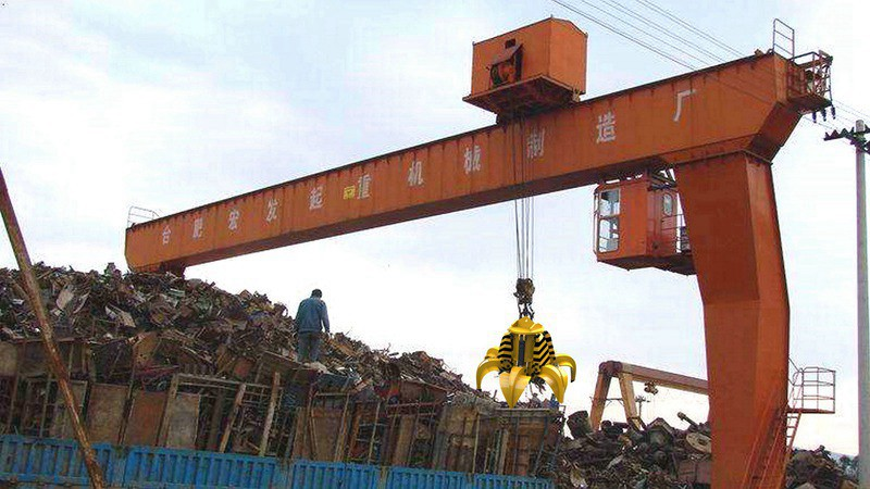 Orange Peel Hydraulic Grab Gantry Crane for Steel Scrap Yard