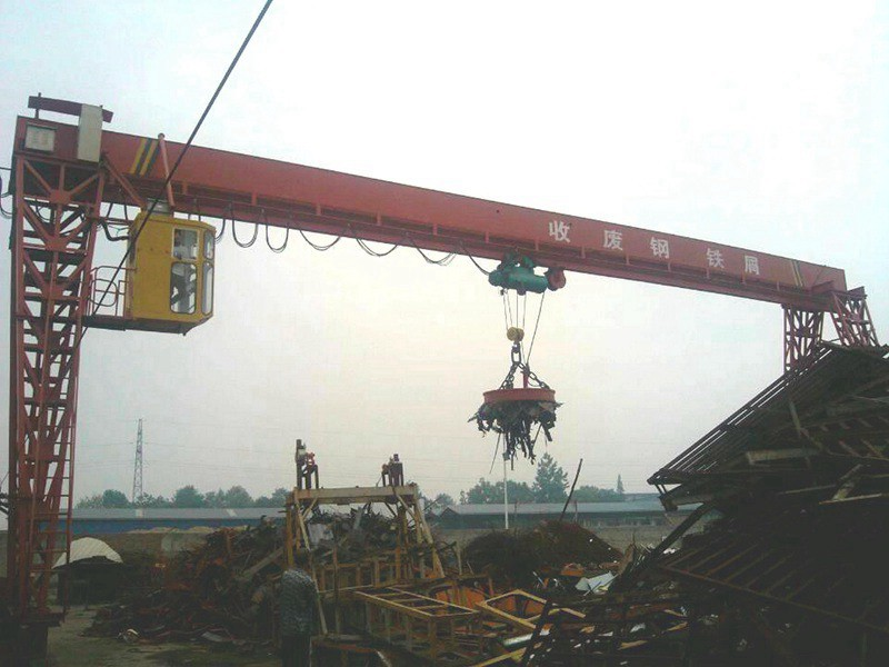 Steel Scrap Handling Hydraulic Grapple Gantry Crane