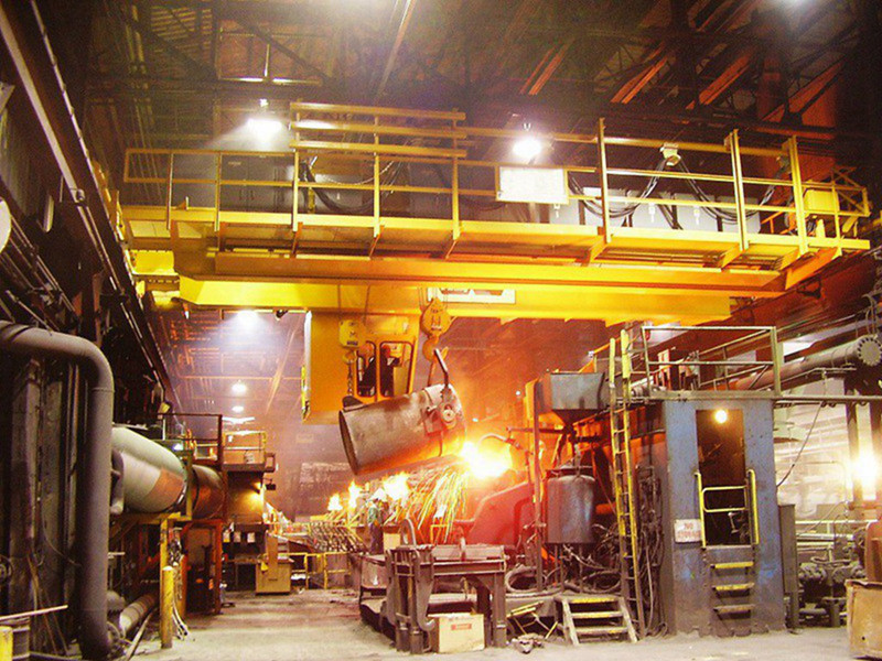 Steel Making Plant Double Girder Ladle Lifting Crane