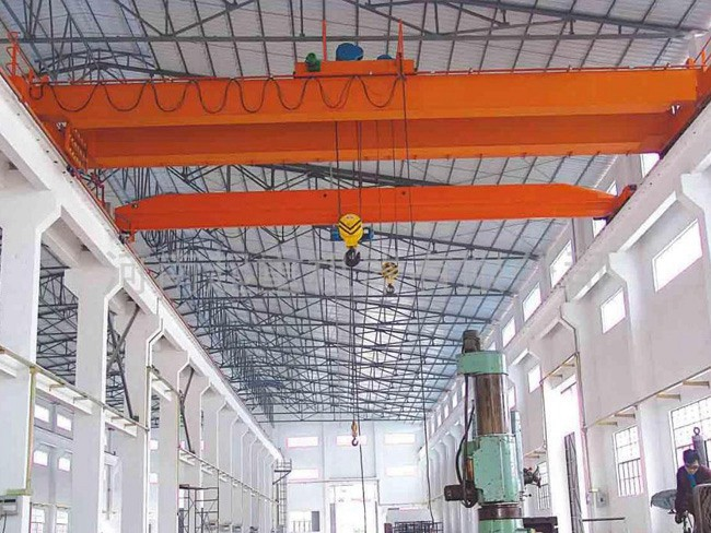 Work Shop Used Double Girder Electric Hoist Travelling Overhead Crane