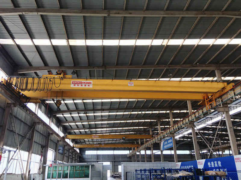 Workshop Applied Double Girder EOT Crane with Electric Hoist Trolley