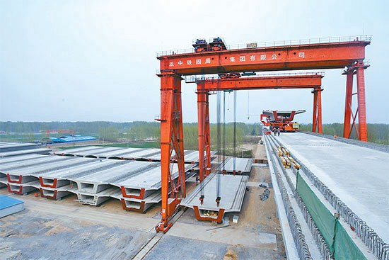 Electric Control 450t Beam Lifting Goliath Gantry Crane China