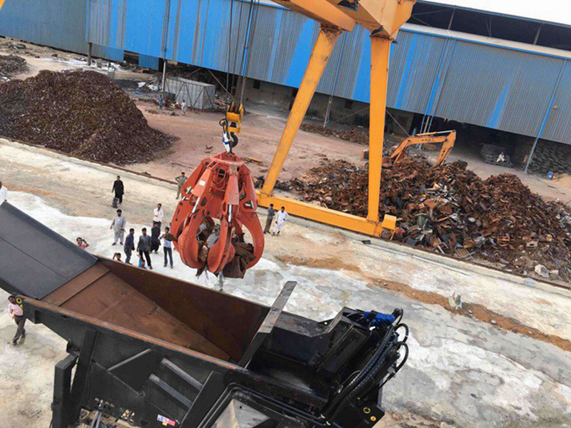 Hydraulic Grab Steel Scrap Handling Crane for Steel Scrap Yard