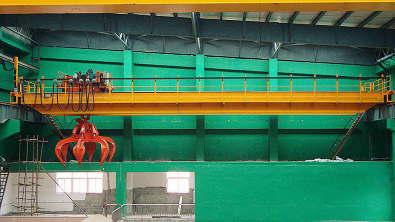 Waste Lifting Orange Peel Grab Overhead Crane