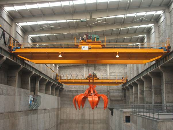 Steel Scrap Grab Overhead Crane