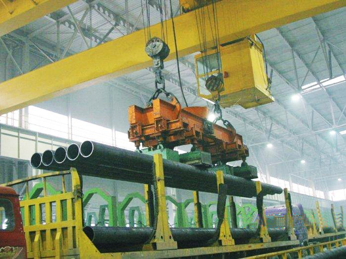 QL double beam overhead magnets bridge crane with carrier electromagnetic beam