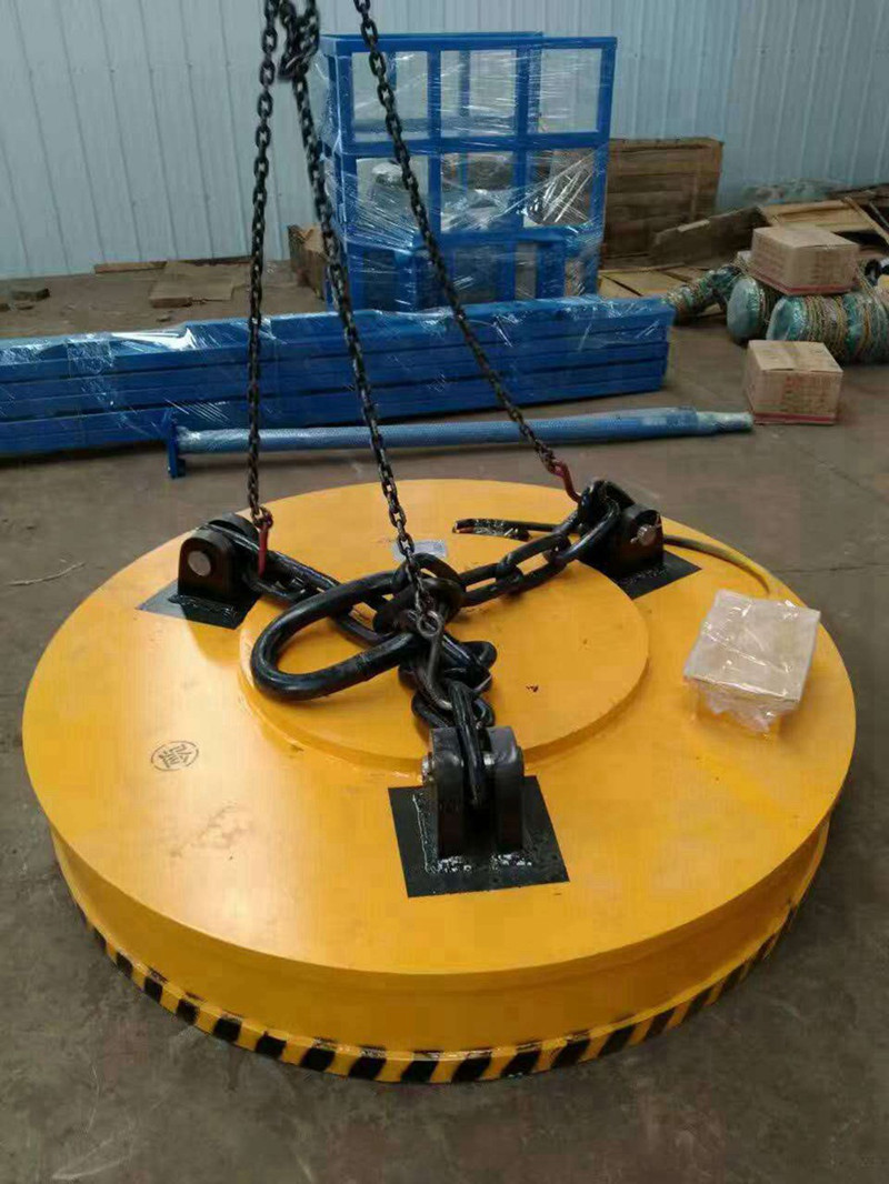 16ton QC double girder magnets crane for scrap charging