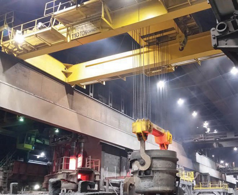 QDY Double Girder Overhead Crane Ladle Crane for Steel Making Factory