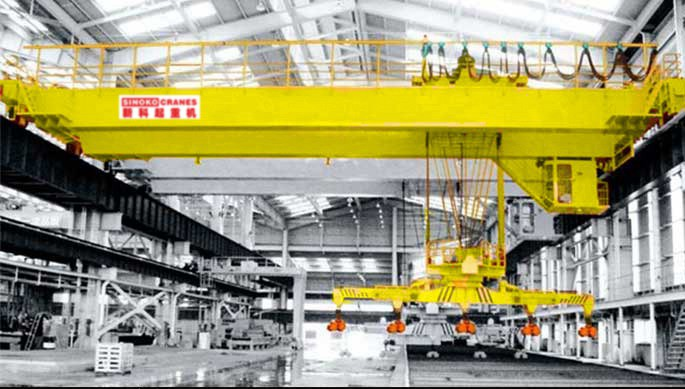 QL Double Girder Bridge Crane with Carrier-beam Used in Steel Mill