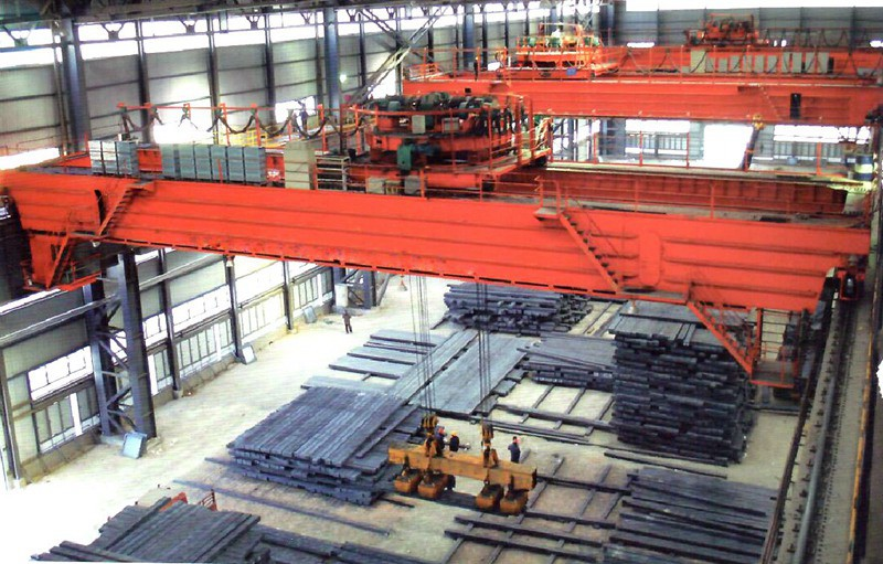 YC Upper rotate/rotating crab Electromagnet overhead crane