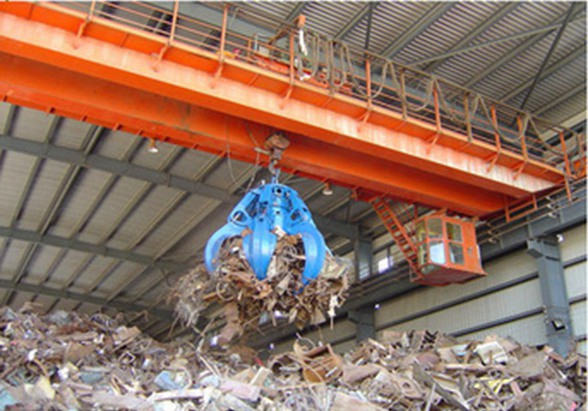 Steel Scrap Charging Crane with Grab for steel making