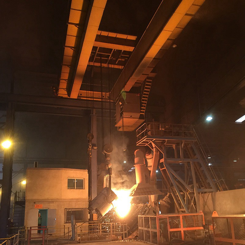 Steel Mill Used Double Girder Overhead Casting Crane
