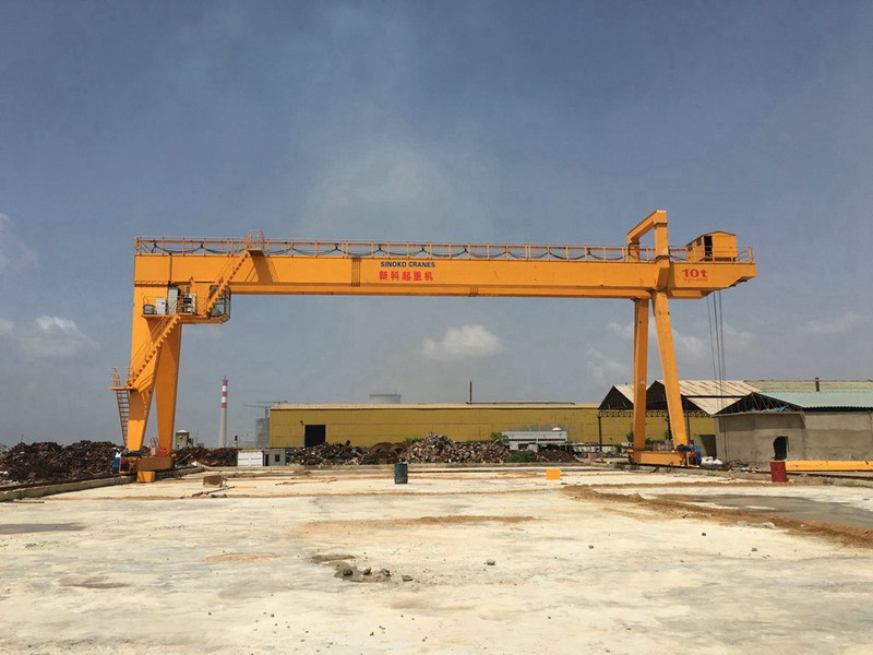 High Efficient Construction Travelling Lifting Steel Magnet Gantry Crane