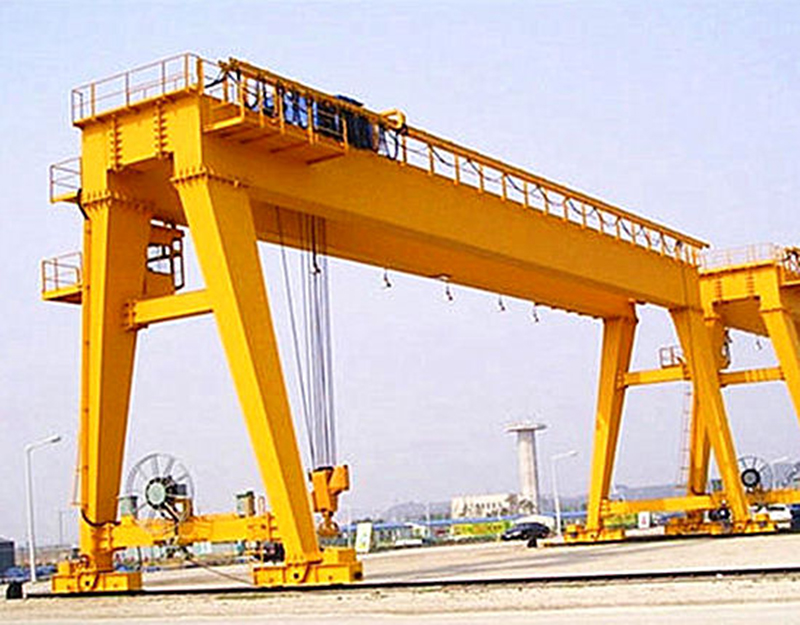 A Type Cement Plant Double Girder Gantry Crane