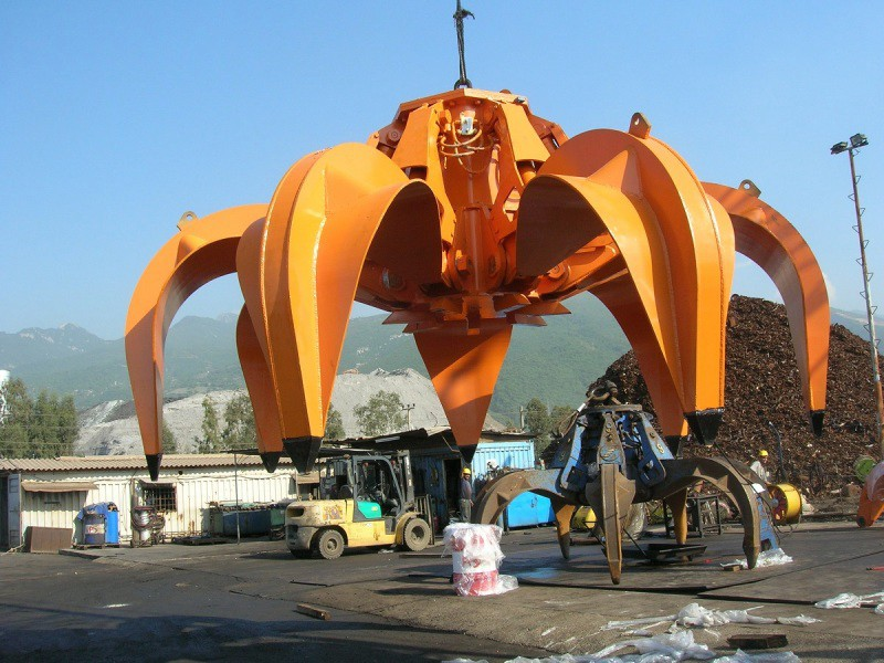 Orange Peel Electro-hydraulic Grab Bucket