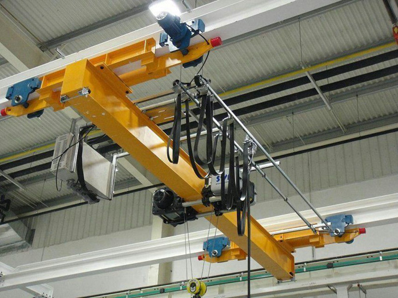 Underslung Traveling Single Girder Hoist Overhead Crane