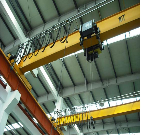 10 ton European Standard Bridge Crane with Pendant Line Control