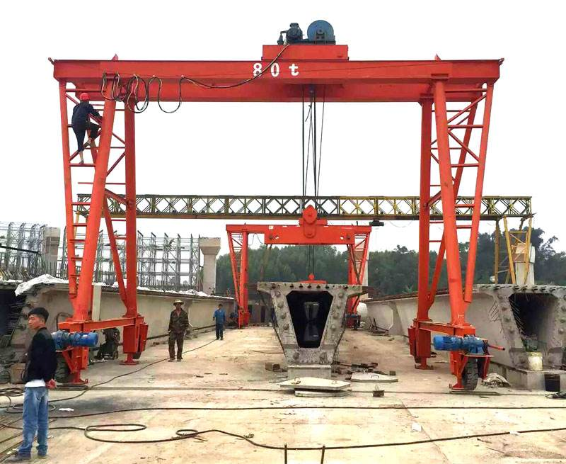 Highway Construction 450T Beam Lifting Gantry Crane