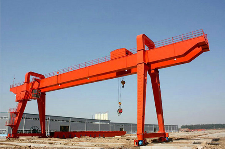 10t 20t 50t Soft Start Motor Driven Rail Traveling Gantry Double Girder Gantry Crane