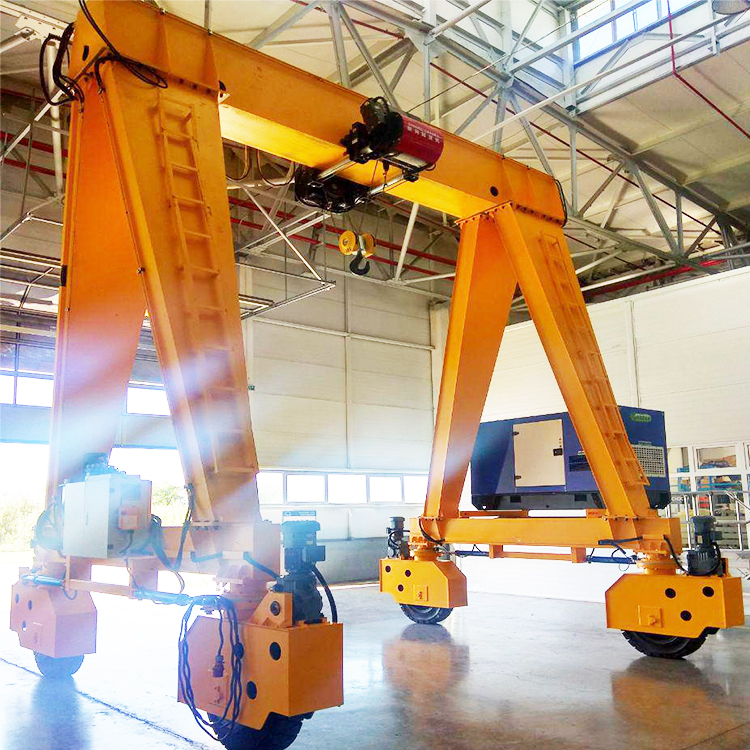 RTG Type Rubber Tyred Mobile Gantry Crane