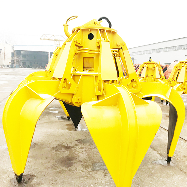 Steel Mill Scrap Clamshell Grab Bucket