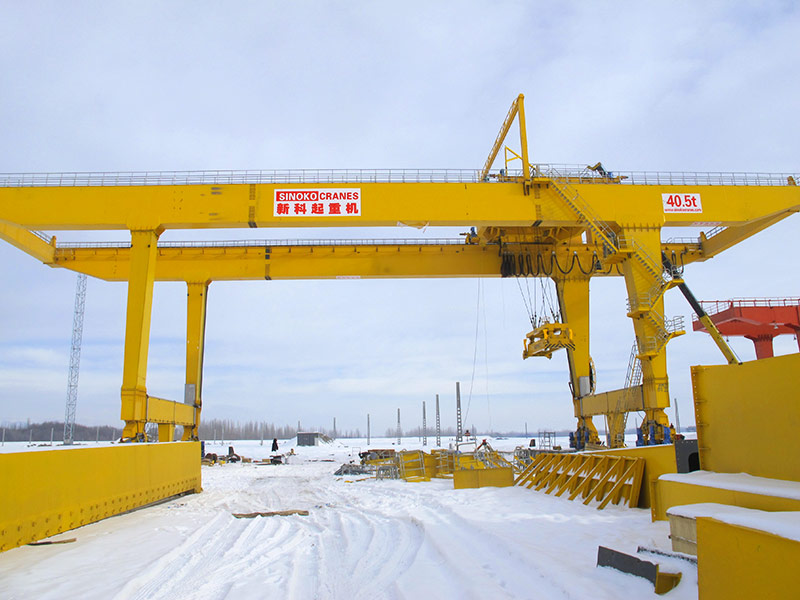 Outdoor RMG Type Rail Mounted Cantilever Travelling Gantry Crane