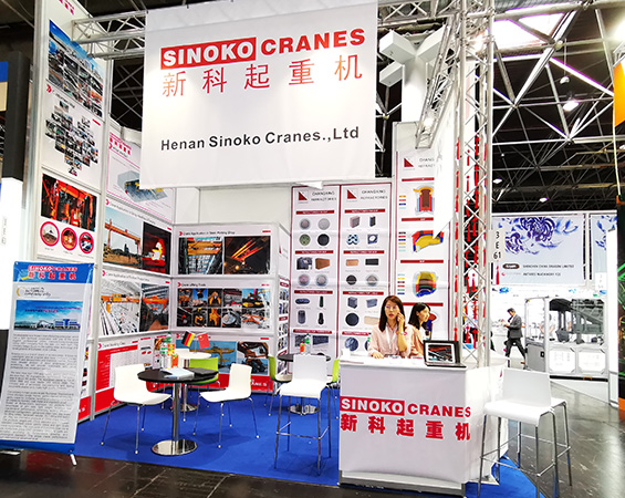 Report on the first day of Sinokocranes participation in METEC exhibition in Germany